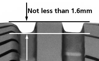 tyres minimum tread depth