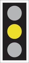 AMBER means 'Stop' at the stop line. You may go on only if the AMBER appears after you have crossed the stop line or are so close to it that to pull up might cause an accident