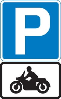 Parking place for solo motorcycles