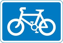 Recommended route for pedal cycles