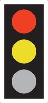 RED AND AMBER also means 'Stop'. Do not pass through or start until GREEN shows