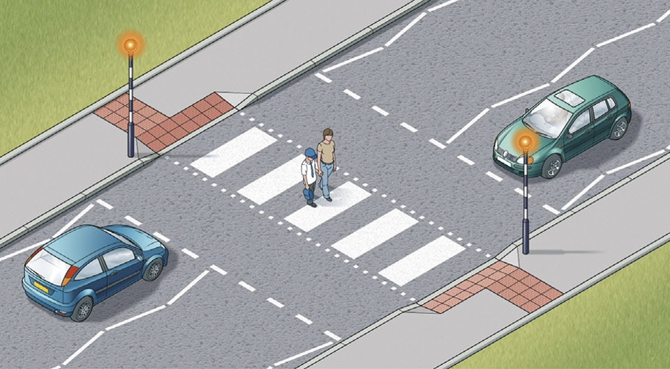 Line Drawing Of Zebra Crossing : Rules for pedestrians crossings to the highway