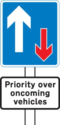Traffic has priority over oncoming vehicles