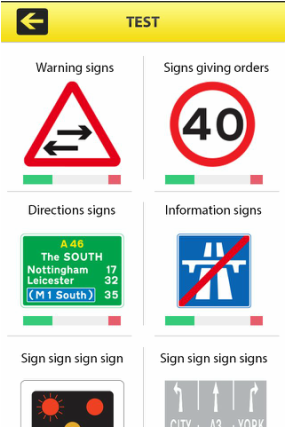 Road Signs app - ebook