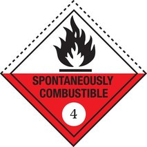 Spontaneously combustible substance