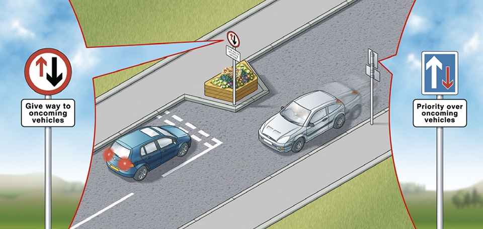 Rule 153: Chicanes may be used to slow traffic down