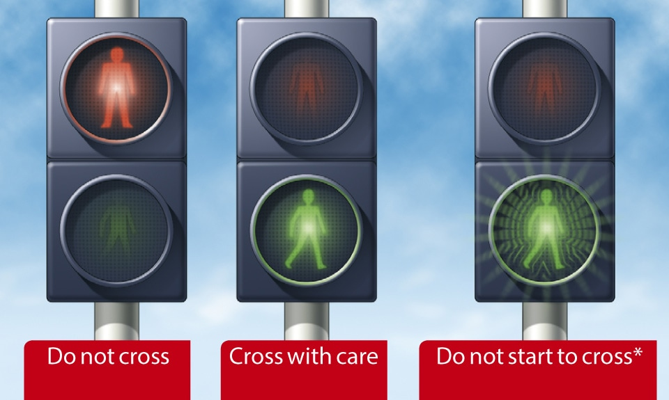 Rule 21- At traffic lights, puffin and pelican crossings.