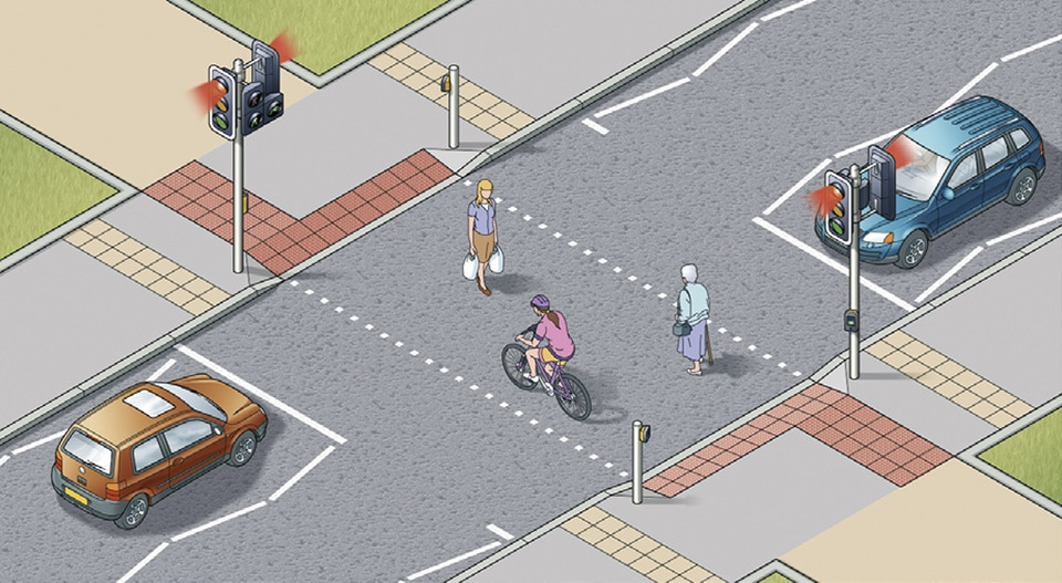 Rule 25-Toucan crossings can be used by both cyclists and pedestrians