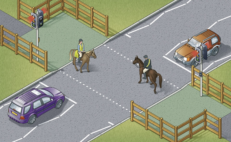 Rule 27- Equestrian crossings are used by horse riders.